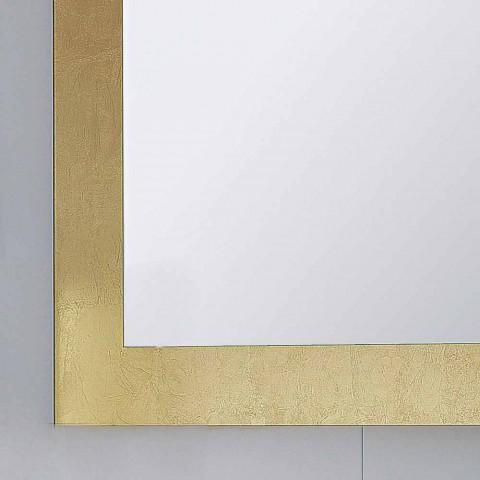Baie rama de sticla oglinda decorate Pascal frunze de aur