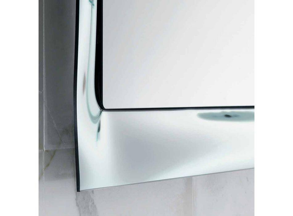 Baie rama oglinda de sticlă topită de argint design modern Arin