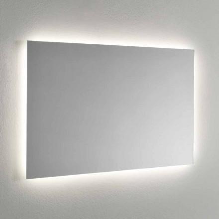 Oglindă de perete cu iluminare de fundal LED pe 4 laturi Made in Italy - Romio
