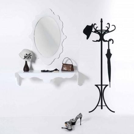 design alb oglinda de perete Joy cadru decorat, made in Italy