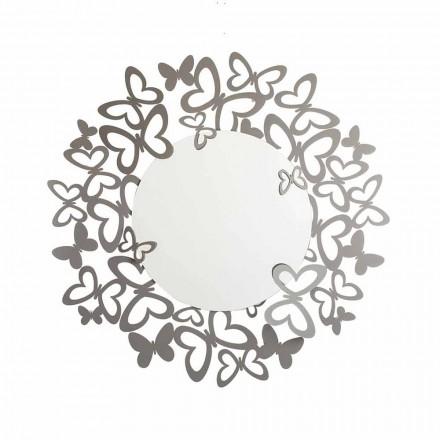 Oglindă circulară de perete de design modern din fier fabricat în Italia - Stelio