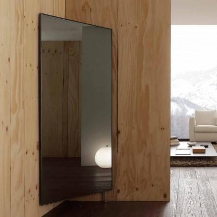Oglindă de perete cu ușă de deschidere și cârlige pentru paltoane Made in Italy - Boro
