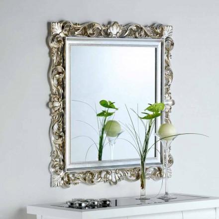 designer de oglinda de perete cu cadru decorat Marsy, 98x98 cm