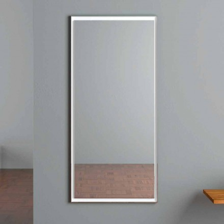 Oglindă de perete iluminată cu LED cu comutator tactil Fabricat în Italia - Ammar