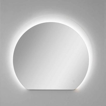 Oglindă modernă de perete cu detaliu sablat și LED Made in Italy - Rialto