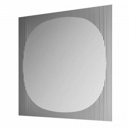 Oglindă modernă de perete pătrată, în culoarea fumului, fabricată în Italia - Bandolero
