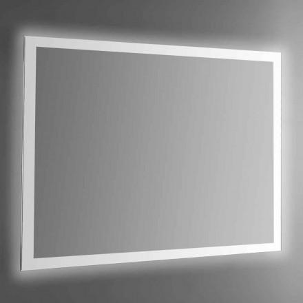 Oglindă de perete retroiluminată cu cadru sablat Made in Italy - Edigio
