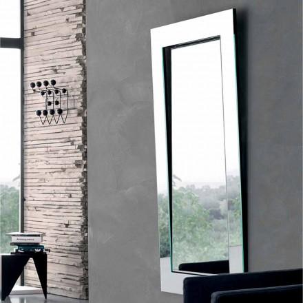 Oglindă de perete dreptunghiulară cu cadru înclinat fabricat în Italia - Salamina