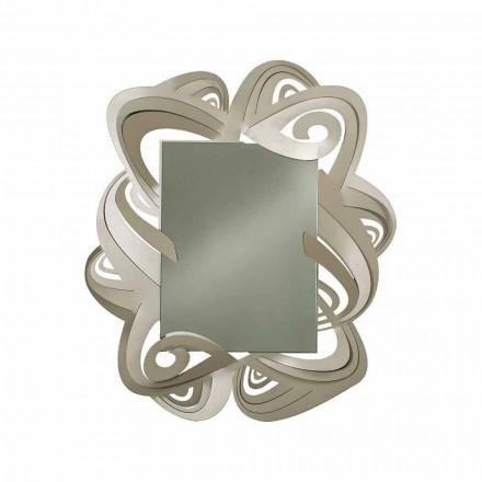 Oglindă dreptunghiulară modernă din fier realizată în Italia - Penny
