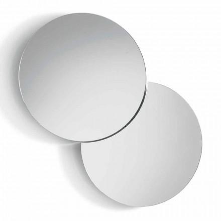 Oglindă rotundă de perete cu satelit care transformă un 360 ° complet făcut în Italia - Shaki