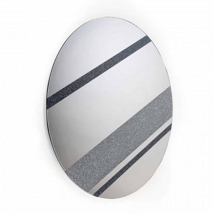 Runda oglindă de perete design modern, 100% Made in Italy Athos
