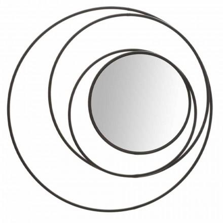 Oglinda rotundă de perete a designului modern din fier, Selda