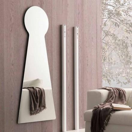 Oglindă de perete în formă de panou de melamină Made in Italy - Bromo