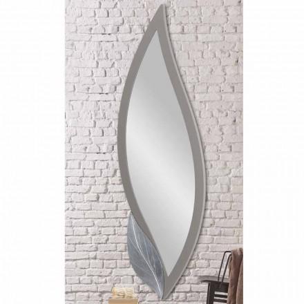 Oglinzi de oglindă de oțel moderne, gri, gri, lăcuite, făcute din Italia, Sagama