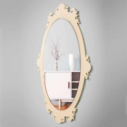 Oglinda vintage de lemn cu design vintage cu cadru - Giangio