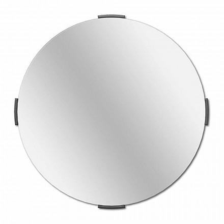 Oglinda de perete modernă cu design cadru rotund cu cadru - Odosso