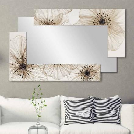Oglinda de perete cu dublu elle realizat în Italia Design cu nisip