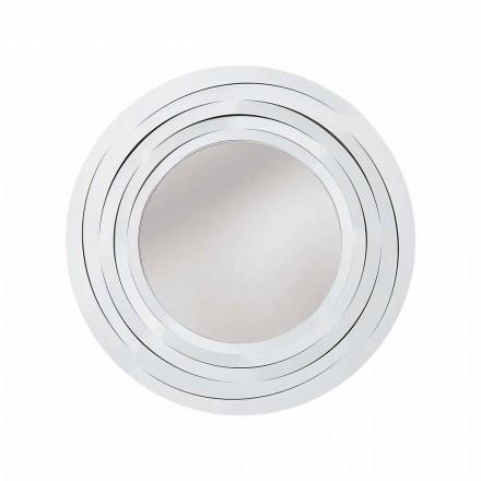 Oglindă circulară modernă de perete din fier colorat realizată în Italia - Oregano