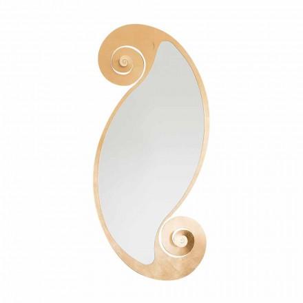 Oglinda de perete ovală de design modern din fier fabricat în Italia - Pacific