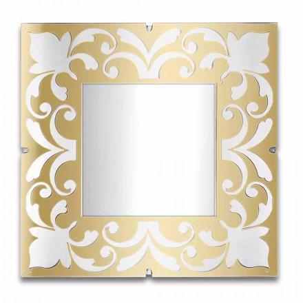 Cadru oglindă pătrată în plexiglas auriu, bronz, argintiu - Foscolo