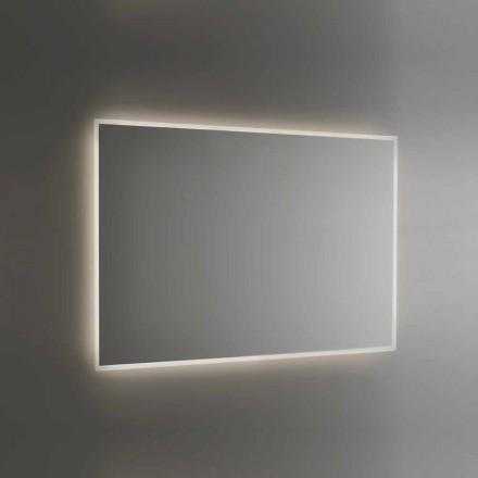 Oglindă de baie retroiluminată cu cadru sablat Fabricat în Italia - Floriana