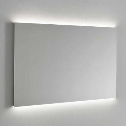 Oglindă de perete iluminată cu LED, cadru din oțel Made in Italy - Tundra