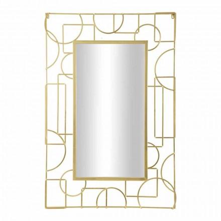 Oglindă de perete din fier dreptunghiular de design modern - Plinio