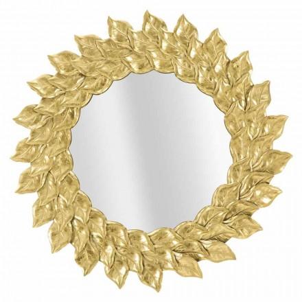 Oglindă rotundă de perete de design modern cu cadru de fier - Seneca