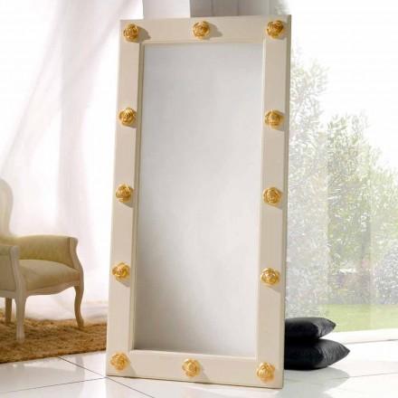 Oglindă verticală podea / perete, cu decoratiuni Abel, realizate manual
