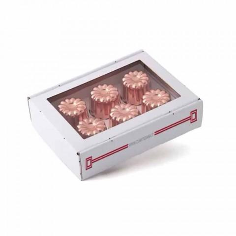 6 bucăți din cupru conservat din cupru conservat manual, forme de tort din cupru - Gianvito