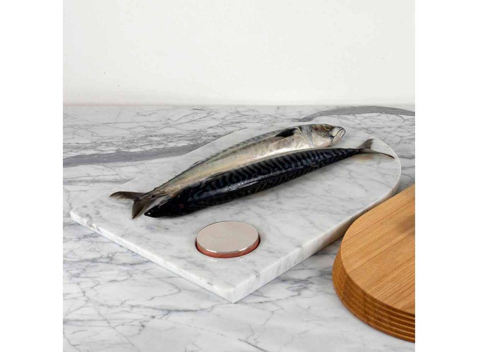 Accesorii pentru tăiere și bucătărie în marmură, lemn și oțel Design de lux - Icaro