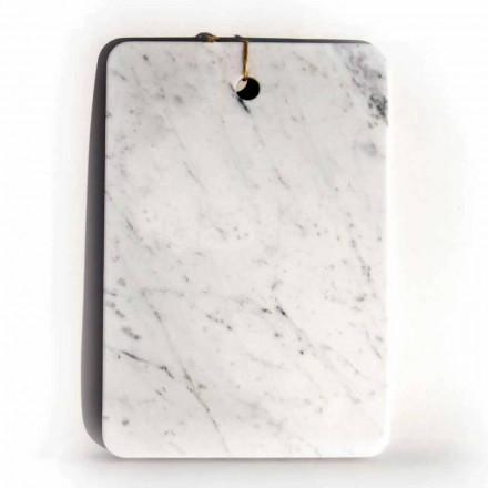 Placă de tăiere proiectată Made in Italy în marmură albă Carrarra - Masha