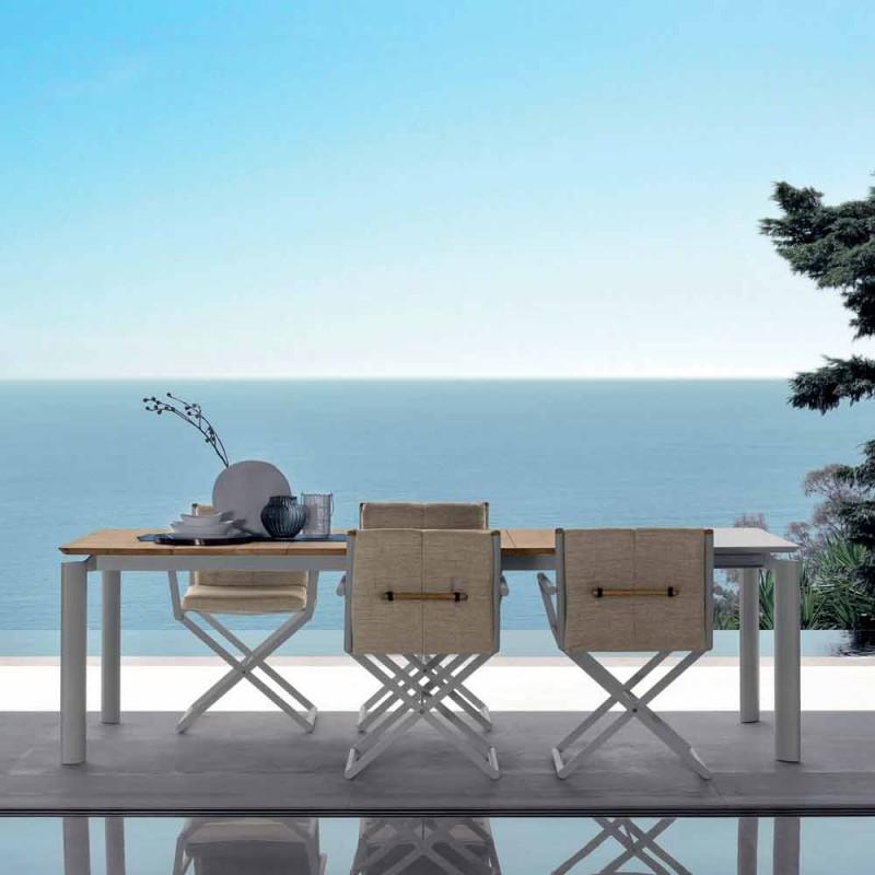Masă extensibilă de grădină Talenti Domino 200 / 260cm fabricată în Italia