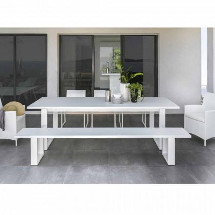 Talenti Essence banc de aluminiu din aluminiu alb făcut din Italia