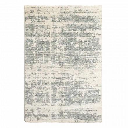 Covor de design țesut manual din lână și bumbac pentru sufragerie - cupru