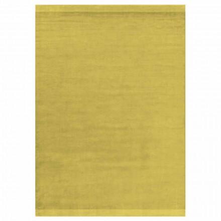 Covor colorat și design modern în mătase și lână cu bandă - amestec