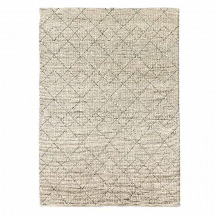 Covor modern de living Țesut manual în lână Design geometric - Geome