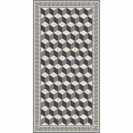 Covor de sufragerie modern în pvc și poliester cu model geometric - Romio