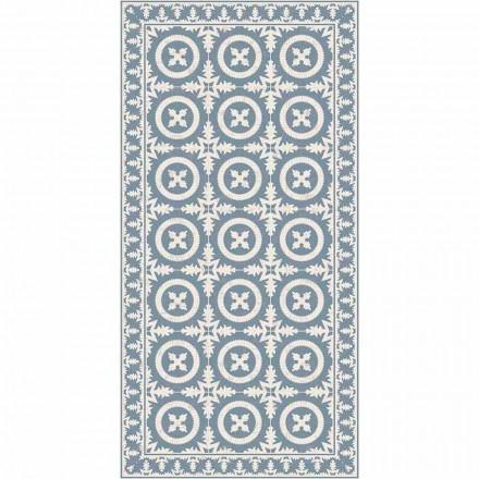 Covor de sufragerie modern în vinil de fantezie bej sau albastru - Bondo
