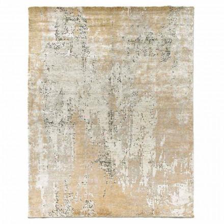 Covor elegant de design modern pentru sufragerie din mătase și lână de bambus - Pașa