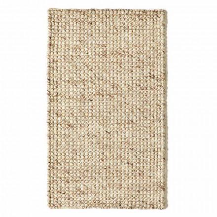 Covor modern din țesătură manuală din lână și bumbac - epavă