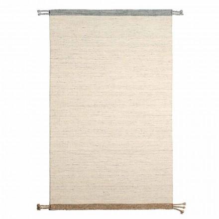 Covor dreptunghiular de sufragerie din lână și bumbac Design versatil și modern - Dimma