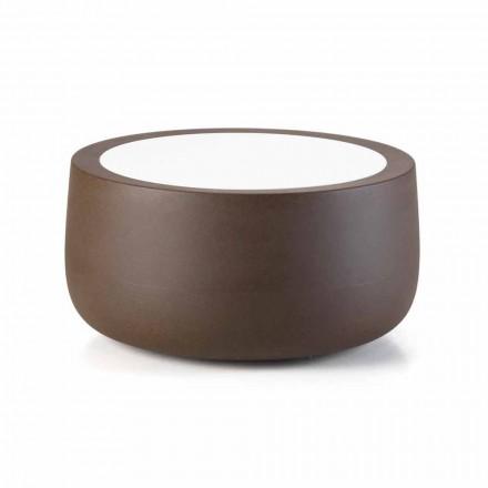 Măsuță de cafea în aer liber cu design redus în HPL și polietilenă Made in Italy - Belida