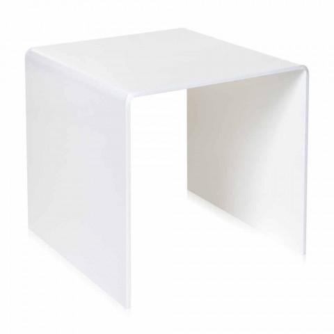 50x50cm de masă albă Terry Big design modern, realizat în Italia