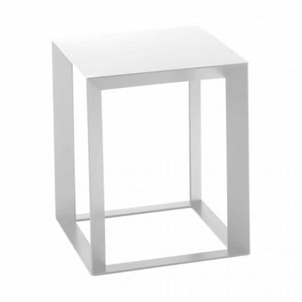 Masă de cafea din metal cu design pătrat 2 dimensiuni - Josyane