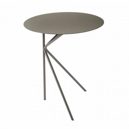 Masă de cafea rotundă din metal, design în diferite culori și 2 dimensiuni - Olesya