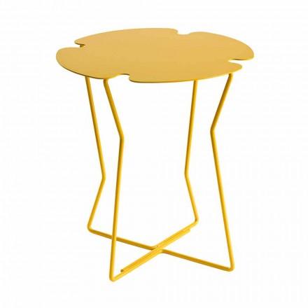 Măsuță de cafea pentru sufragerie în metal, design de diferite culori - Kathrin