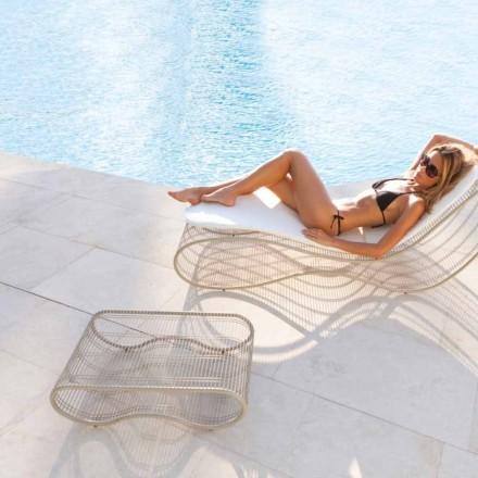 Breez masă modernă de design exterior, alb sau taupe