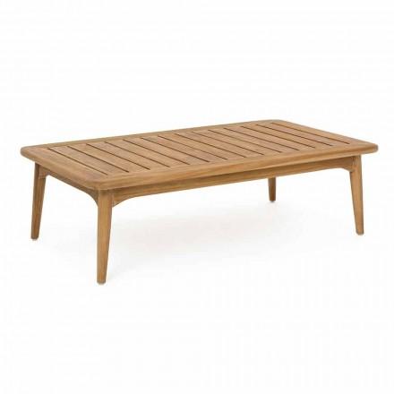 Masă de exterior modernă din lemn de tec Homemotion - Luanaedmea