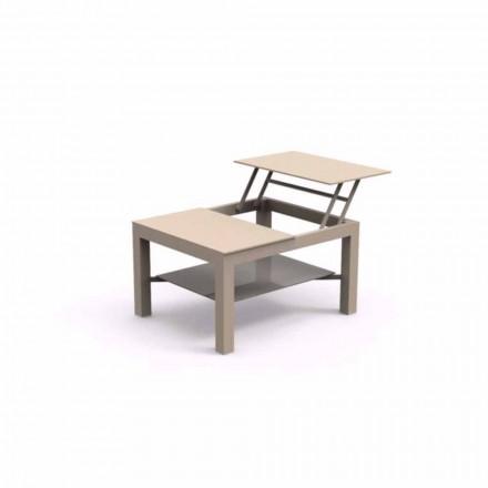 Masa de cafea gradina cu posibilitate de deschidere, plat ecran de sticlă imprimate Chic mici